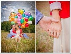 Balloon Engagement Photos. Up Engagement Photos