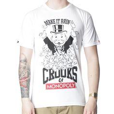 Crooks & Castles Make it Rain T-Shirt. Shop now at www.themenswearsite.com/t-shirts-c4/crooks-and-castles-make-it-rain-t-shirt-p88798