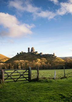 Fantastic old Medieval castle ruins during beautiful Autumn suns by Matt Gibson / 500px