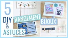 5 DIY & ASTUCES FACILES : Rangement BIJOUX Diy Francais, Diy Cadeau, Best Youtubers, Decoration, Funny Images, Nespresso, Stampin Up, Cool Stuff, Storage