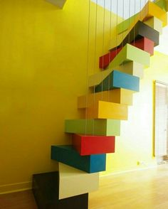 Unique stairs stairways architecture ideas for 2019 Stair Steps, Stair Railing, Railings, Stairs Architecture, Interior Architecture, Stairs To Heaven, Escalier Design, Take The Stairs, Modern Stairs