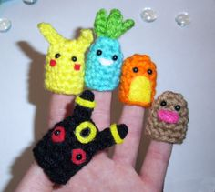 Pokemon Finger Puppets Set of 5. $12.50, via Etsy.