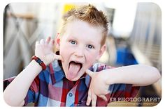 children photography - silly face!