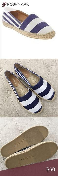 🆕Banana Republic Blue striped espadrilles shoes Brand-new, NWOT tag fell off but sticker still in place. Banana republic blue and white stripes nautical-like shoes. Espadrilles shoes/flats. Bundle for additional savings, offers considered. Size 8.5 M. Beautiful for a casual day out, definitely a statement piece must-have. Banana Republic Shoes Espadrilles