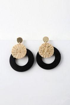 Boho Charm Handmade Rattan Wooden Dangle Drop Earring For Women 2019 Ethnic Tortoiseshell Acrylic Hollow Round Statement Jewelry More Discounts Surprises Drop Earrings Earrings