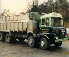 FODEN old recycling container transporter