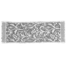 """Heritage Lace Coventry 15-Inch by 48-Inch Runner, Goldenrod by Heritage Lace. $15.99. Fine-gauge lace. 100% Polyester. Machine wash cold, gentle. Made in USA. 15-Inch by 48-inch. Table textile. Coventry 15-inch by 48-inch Goldenrod Runner with a free-flowing vintage look and a soft, luxurious hand. The """"crumpled"""" look is heat-set to last through many launderings and retain its retro appeal. Includes a 3-3/4-inch Trim included in stated dimensions."""