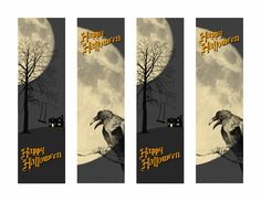 free halloween templates and printables - Halloween Book Marks