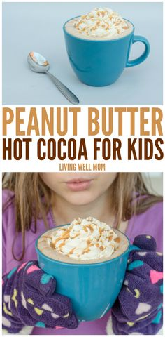 Kids love this Peanut Butter Hot Cocoa recipe, and you'll love it too, because it's quick & easy to make. Plus with no refined sugar, you can feel great about serving this tasty treat to your family!