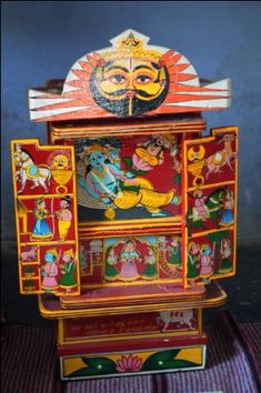 Kaavad, a mobile shrine from Bassi in Rajasthan