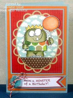 Cute monster card