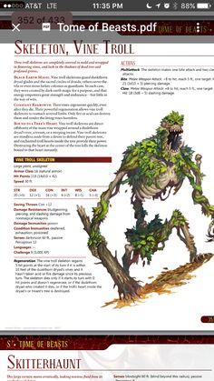 Vine Troll Skeleton