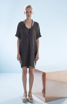 Quarry Print V-Neck Tunic Dress | Elk