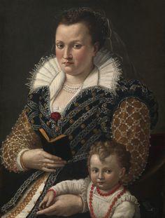 History of fashion — 1581 Sebastiano Marsili - Portrait of Alessandra...