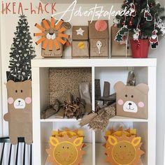 Dieses Jahr wird's tierisch auf Friedrichs KALLAX Regal: Ein IKEA-Hack Adventskalender mit Pinterest Geschenkverpackungen und Geschenkideen für Kleinkinder.