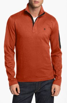 Victorinox Swiss Army® Tailored Fit Half Zip Pique Polo (Online Only)