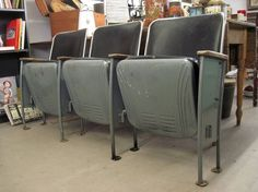 1950's Heywood Wakefield Movie Theatre Seats  Set by modernhipster, $295.00