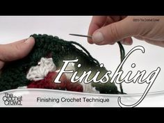 ▶ Crochet & Knitting Finishing Technique (This is different from what I was taught, by him lol... I use to knot the end, then weave the tail in and out of the edge. He now uses a different technique some of you may not know about... Deb)