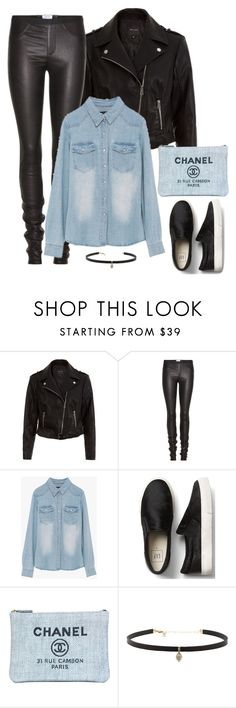 """Untitled #457"" by kamication ❤ liked on Polyvore featuring New Look, Helmut Lang, Chanel and Carbon & Hyde"
