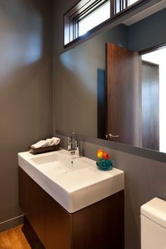 Linden Hills Contemporary - contemporary - powder room - minneapolis - Andrea Swan - Swan Architecture