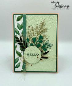 Stampin' Up! Forever Green, Leaf Images, Pink Cards, Die Cut Cards, Flower Cards, Paper Design, Homemade Cards, Ferns, Stampin Up Cards