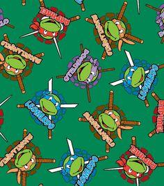 Licensed Fleece Fabric-Teenage Mutant Ninja Turtles Retro & Character Fabric at Joann.com