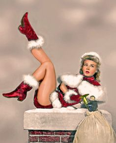 Vera-Ellen Stuck in the Chimney in the 40's, but still merry enough to wish us all a leggy and happy holiday season!