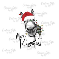 Items similar to Christmas Merry Kissmyass, Donkey Sublimation Transfer, Ready to press on Etsy Christmas Donkey, Sublimation Mugs, Iron On Transfer, Heat Press, White Ink, Dark Colors, Colorful Shirts, I Shop, Cool Designs