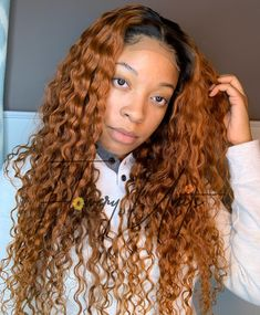 Flowery Units specializes in creating sewing machine-made custom wigs. Our wigs are custom fit to your measurements and glueless. Ginger Blonde Hair, Ginger Water, Colored Wigs, Water Waves, Wigs For Black Women, Lace Front Wigs, Rust, Cool Hairstyles, Texas