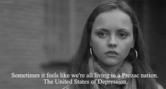 Prozac Nation with Christina Ricci kind of a downer except for her Royal Gorgeousness. Dream Quotes, Sad Quotes, Movie Quotes, Quotes To Live By, Qoutes, Prozac Nation, Christina Ricci, Movie Lines, Caption Quotes