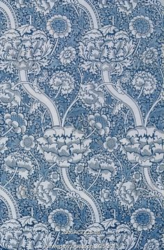 Wandle furnishing fabric, by William Morris. England, late 19th century