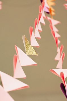 Mini Triangle Ombré Ceremony Backdrop by FrenchKnotStudios on Etsy