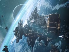 Battlefleet Gothic: Armada is the RTS adaptation for PC of Games Workshop's tabletop game, staging the deadly space battles of Warhammer Fantasy Places, Sci Fi Fantasy, Concept Ships, Concept Art, Battle Fleet, Battlefleet Gothic, Starship Concept, Spaceship Art, Space Battles