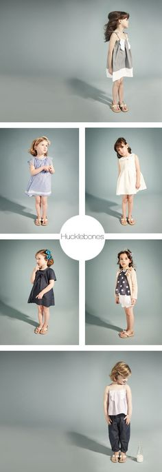 Hucklebones' Spring-Summer  collection with its trademark bows is as sweet as ever - girls dresses #wow #kids #style