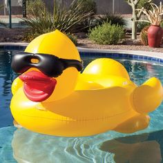 Game Giant Inflatable Ride-On Derby Duck Pool Float