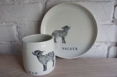 Handmade tumbler and plate by SKT Ceramics