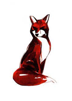 Sepia Fox - A4 Limited Edition Print   DegreeArt.com The Original Online Art Gallery
