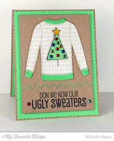 Cozy Greetings, Sweater Stitch Background, Blueprints 20 Die-namcis, Comfy Sweater Die-namics - Michele Boyer #mftstamps