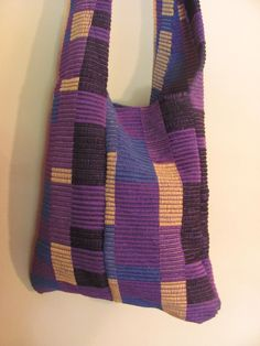 Rep Weave Hobo Bag woven with t-shirt strips