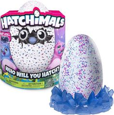 Hatchimals are interactive magical creatures inside eggs. Who's inside. It's a surprise.