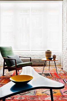 Keltainen Talo Rannalla Raum, Midcentury Moderne Möbel, Midcentury Modern,  Wohnzimmer Modern, Wohnzimer