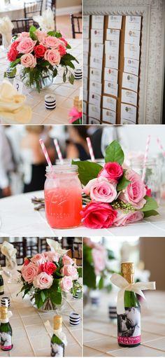 flowers, drinks, board