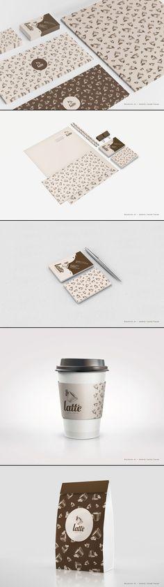 Latté Coffee Brand Identity by Daniel Lasso Casas