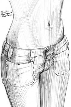 Как нарисовать живот карандашом поэтапно 5