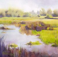 Watercolor landscape paintings - Recent landscape prints - Maud Durland