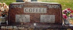 My grandparents headstone.  © 2014 Jack Coffee.  Use with permission only.