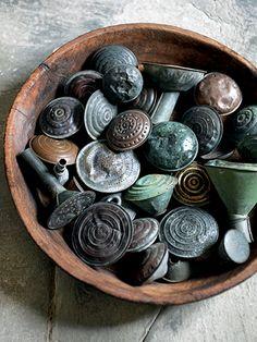 schaal broeskoppen koper brons
