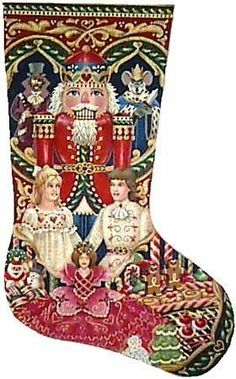 This Nutcracker is a hand painted needlepoint Christmas stocking from the Tapestry Tent Collection. <br> We can match this canvas with your favorite needlepoint yarn to create a custom needlepoint kit. <br> x <br> 18 count Nutcracker Sweet, Nutcracker Christmas, Christmas Cross, Christmas Angels, Christmas Themes, Christmas Ornaments, Nordic Christmas, Modern Christmas, Diy Christmas