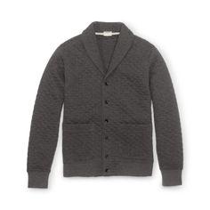 Quilted Shawl Cardigan - Sweatshirts & Sweatpants Men at Club Monaco