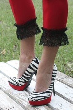 Image detail for -Giddy Up Glamour > Super Trendy Zebra and Red Heels
